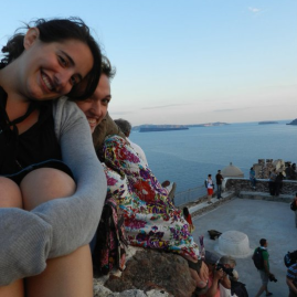Chilly sunset in Oia, Santorini, Greece